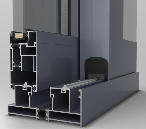 Sliding aluminium system
