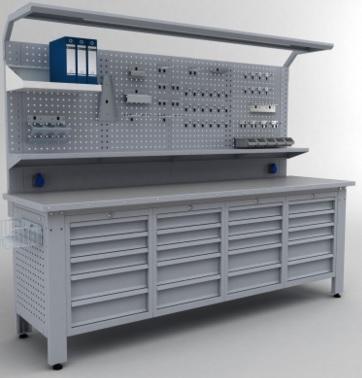 Ekte görülen ürün bir çekmeceli modüler çalışma tezgahıdır,