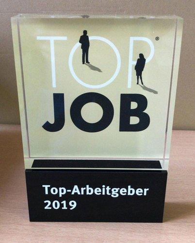 Award TOP JOB aus Acrylglas