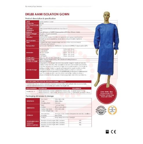 Golden Care Isolation and Surgical Gowns