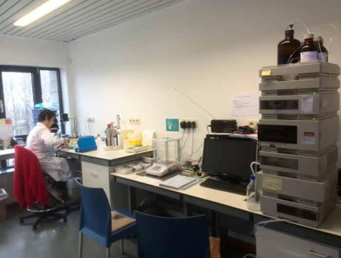 Equipment in new laboratory