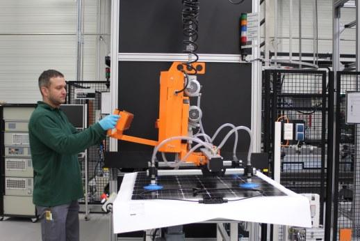 KUKA robotic arms ensuring precise handling.