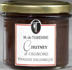 Perfect onion chutney to go with foie gras, white meat, cold meat and even on pizzas.