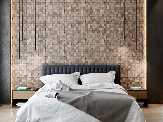Wooden panels Mosaic Pixel - interior