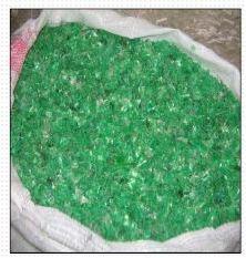 PET flake-green