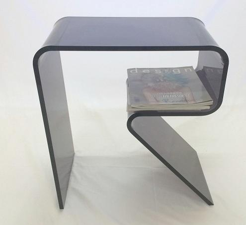 R type Magazine Side Table
