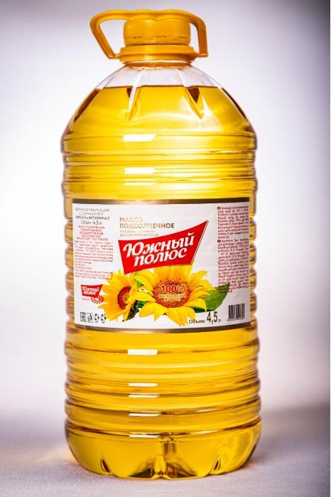 Refined deodorized frozen sunflower oil is the highest grade Yuzhnyu Polyus
