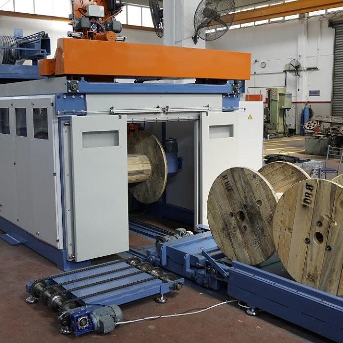Kablomak automatic Double Reel Winding Line 800-1200   Automatic double head spo