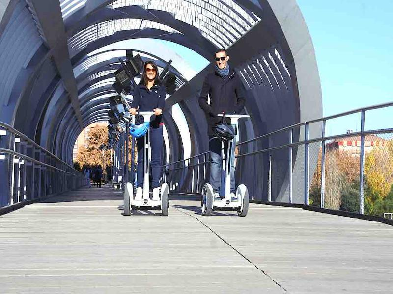 Ninebot Segway rental in Madrid Rio with Funky Rider.
