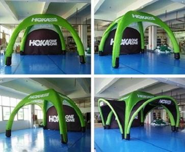 Inflatable pneumatic tents