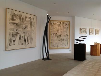 """Série """"Trames"""" de Louise Cara, sculptures en acier de Étienne Viard - Ménerbes 2012"""