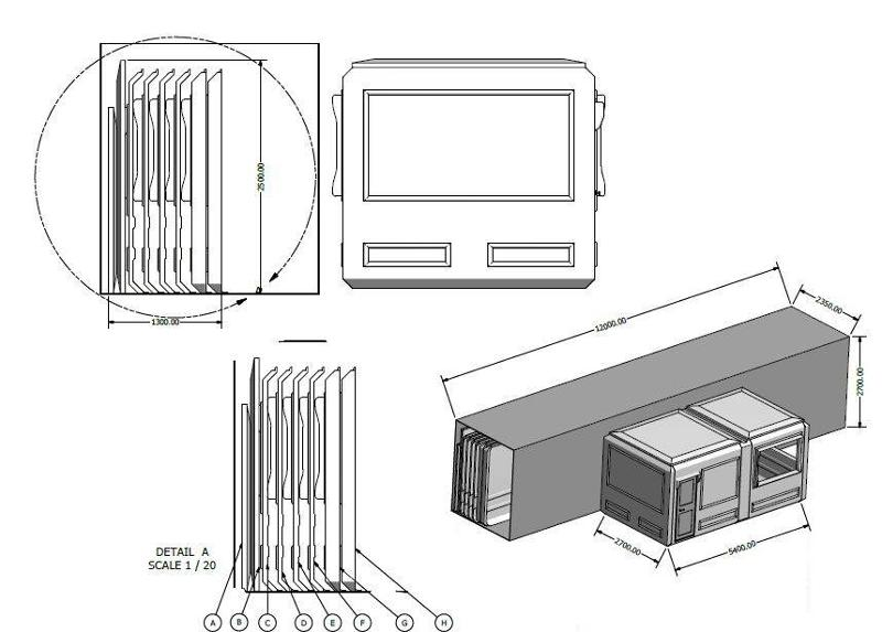 Polyester cabins can be sent as dis-assembled, which is prepared by our stuff to make them ready for installation on site area.