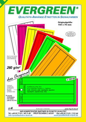 Karton-Anhängeetiketten in signalfarben
