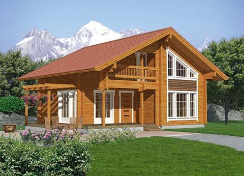 ECOLOGICAL WOODEN HOUSE MODEL 202 EVEREST