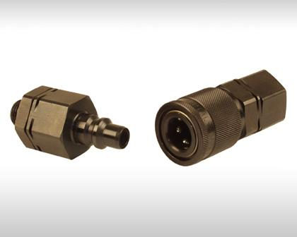 The HP quick coupling series comprises single and double shut-off couplings in nominal sizes from 2.5 to 50 mm. This series is available in different materials with various surface coatings.