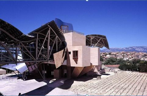 Stone supplied for the Marques de Riscal winery and hotel in La Rioja (Spain).