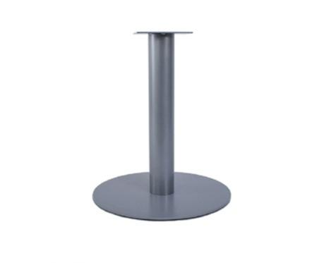 Round steel table base