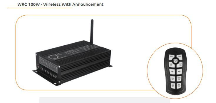 WRC 100W - Wireless With Announcement