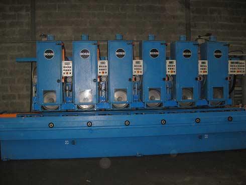 machine 6 têtes de polissage tubes carrés, rectangulaires. Capacité 200 par 200