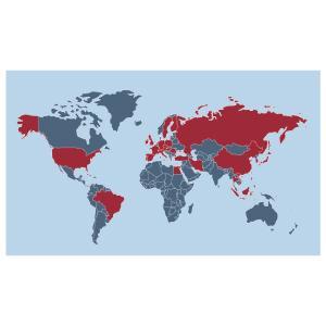 STAR est implanté dans plus de 30 pays. En absence de filiale dans un pays, STAR travaille de manière étroite avec des partenaires locaux dont le pilotage est assuré par la filiale la plus proche.