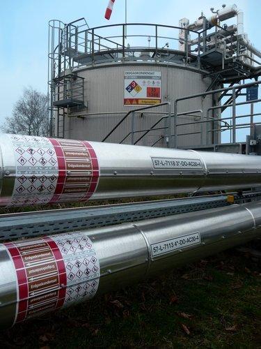 Kennzeichnung von Behältern (Tanks)