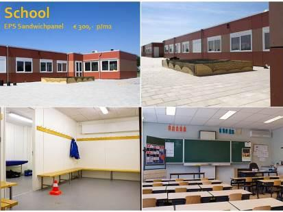 School from sandwichpanel system  fast and cheap  to construct