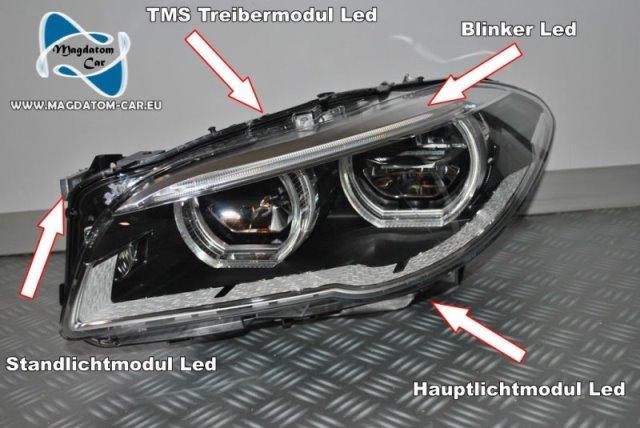 Full Led Headlights Adaptive Module TMS Ballast Bmw F10 F11 M5