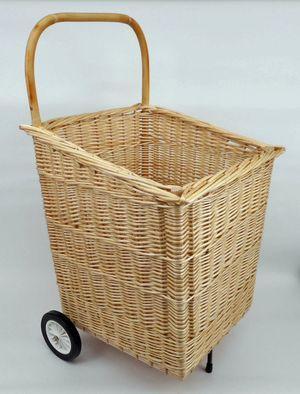 Chariot à bois à roulettes Vannerie Delamotte