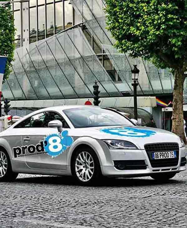 Marquage véhicule entreprise Paris, total covering véhicule,  société spécialisée marquage voiture Paris, marquage publicitaire pour voiture Paris. PROD' 8 : fabrice@prodhuit.com ou 01 55 26 90 20.