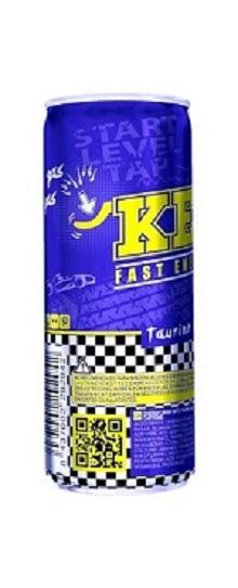 aluminium can 250 ml.