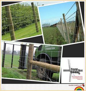 field fence, cattle fence, deer fence, farm fence