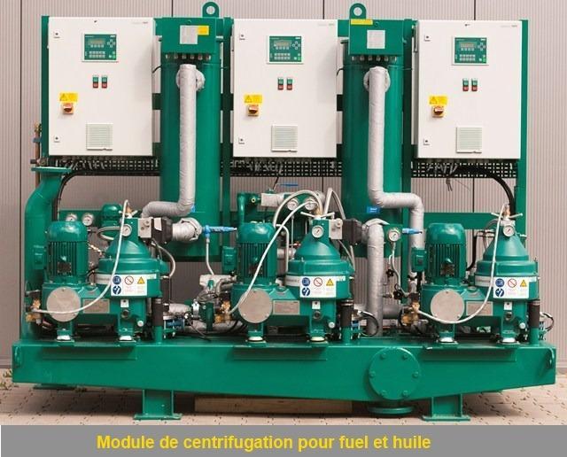 Module de centrifugation pour fuel et huile