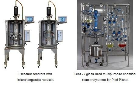 Chemical Reactors for full vacuum to high pressure process