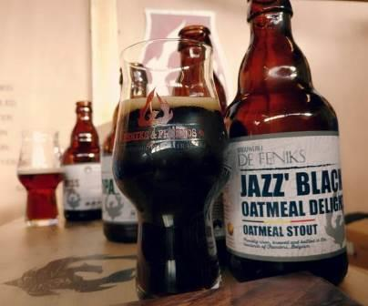 Jazz Black Oatmeal Delight, our oatmeal Stout (10% ABV).