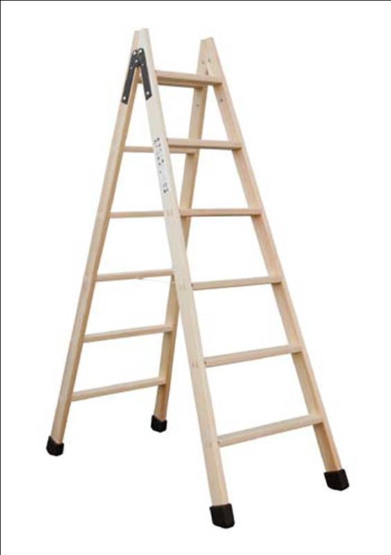 Comercializamos escaleras de madera, de uno, dos y tres tramos, para utilizar en posición de tijera o totalmente extendidas a pared.