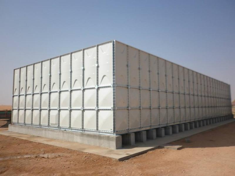 100cumts GRP Water Tank got installed in NOFA resorts Riyadh, Saudi Arabia.