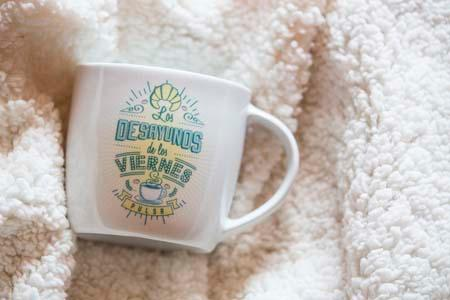 Personalized mugs with transfer decal