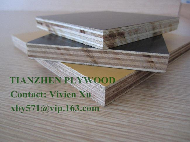 Size: 2440X1220mm, 2500X1250mm; Face/Back: Black, Brown, Yellow, Red phenolic film; Core: Poplar, Combi, Hardwood; Glue: Melamine, WBP