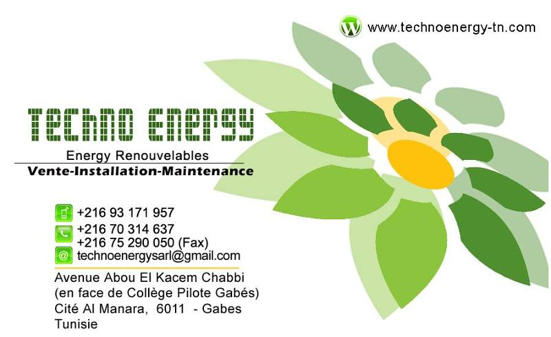 Carte Visit Techno Energy