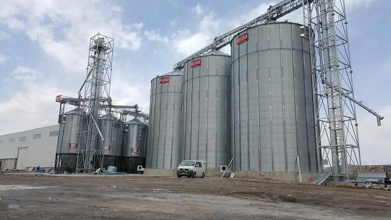 Best quality good price steel silos, elevator systems, handling systems, grain pre-cleaning systems, drying systems - turnkey projects.