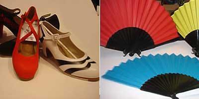 Tenemos todo tipo de zapatos de flamenco para principiantes y profesionales , así como abanicos para bailar flamenco y también para regalo