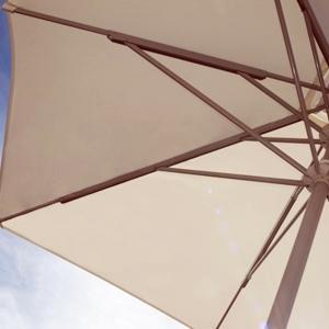 Schirm Bofort, windstabil bis 95 km/h (vom Fluginstitut Warschau zertifiziert), unkomplizierte, sichere Bedienbarkeit, optimaler Schutz gegen Witterungseinflüsse und zeitlos elegante Optik