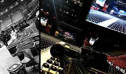 "Regia tricamere Sony PDW-700 su mixer video For-a per lo spettacolo teatrale ""il principe abusivo"" - Assago."