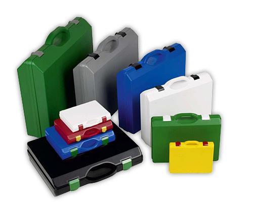 Koffer Sortiment Kunststoff und Alum.