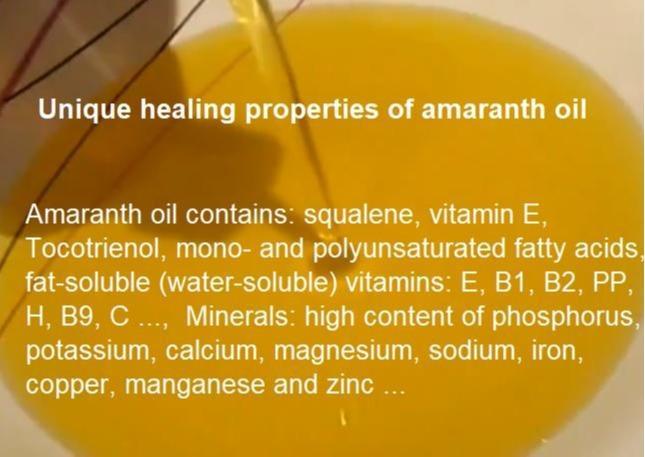 Powerful antioxidants in amaranth oil