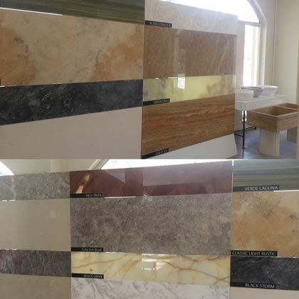 Travertine onyx marble