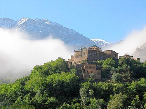Tourist area par excellence is located high in the mountains in Morocco