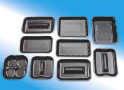 Range of trays in different sizes ready for immediate production