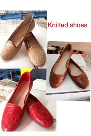LEATHER HAND KNITTED SHOES