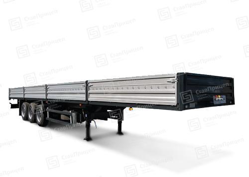 12000-14500х2550х3000-4000mm, 3 axle air suspension (distance between axles 1360mm), Track length 2050mm, Wheels 385/65 R22.5, Side boards - aluminum/ metal, Floor – laminate